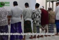 Niat Sholat 5 waktu, Syarat Wajib Cara dan Doanya