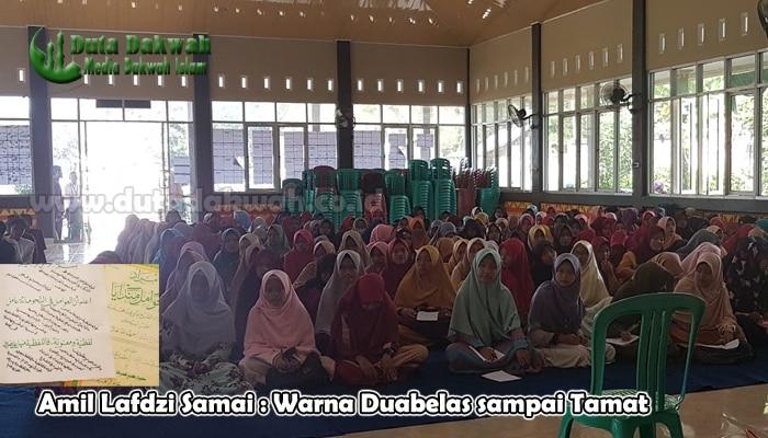 Amil Lafdzi Samai Warna Duabelas sampai Tamat
