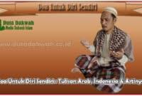 Doa Untuk Diri Sendiri Tulisan Arab, Indonesia & Artinya