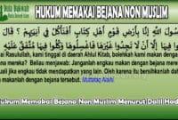 Hukum Memakai Bejana Non Muslim