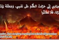 Dzalim dan Saling Mendzalimi adalah haram