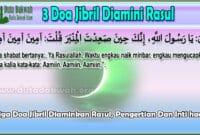 Tiga Doa Jibril Diaminkan Rasul