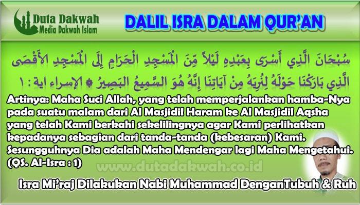 Isra Mi'raj Dilakukan Nabi Muhammad DenganTubuh & Ruh